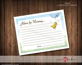 Advice for Mommy Classic Winnie the Pooh Baby Shower Game