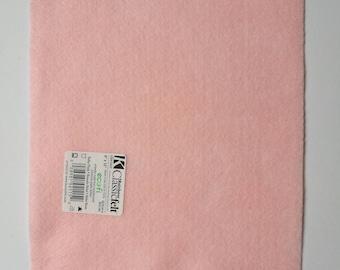 Pale pink ecofriendly felt sheet