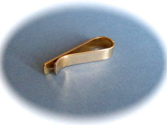 """6 Blanks 1/4 x 5"""" Tie Bar Blank Jeweler's BRASS or COPPER 18 Gauge Tumble Polished or Raw - 6 Blanks - FLAT"""