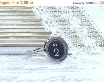 Number 2 Ring Typewriter Key Ring 2 Jewelry Typewriter Key Jewelry Gift For Her Under 10 Dollars