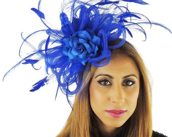 Royal Blue Fascinator Hat for Weddings, Occasions and Parties on a Comb **SAMPLE SALE