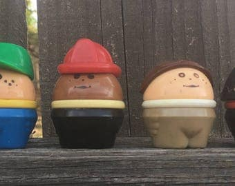 Vintage Fisher Price -Set of 6 - Little People Characters Toys