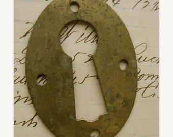ONSALE Antique Large Skeleton Key Hardware Escutcheon