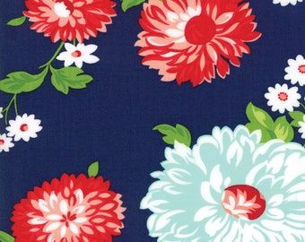 Navy The Good Life Fabric - Moda - Bonnie and Camille - 55150 16