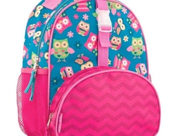 Personalized Stephen Joseph All Over Print Owl Small backpack