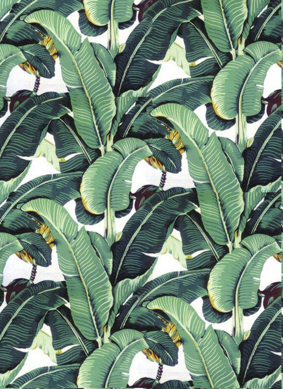 Beverly Hills Hotel Martinique Wallpaper/CW Stockwell The Original Manufacturer Since 1942/ Palm Leaf Wallpaper/Banana Leaf Wallpaper