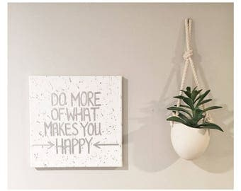 Make You Happy - Hand painted Canvas - bedroom painting decor home house dwell wall hanging decoration black gold paint art work