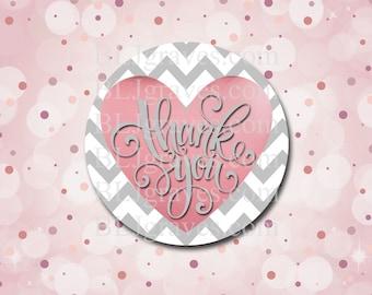 Thank You Sticker Wedding Sticker Baby Shower Birthday Sticker Heart Sticker Treat Bag Party Favor Sticker SP101