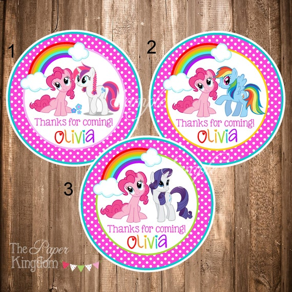 My Little Pony Thank you Tags Printable My Little Pony Tags