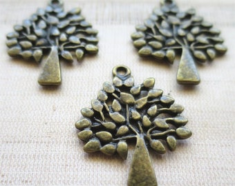 Tree pendants antique gold