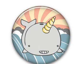 """Narwhal 1.25"""" Button"""