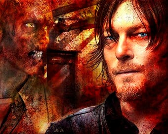 Walking Dead Graphic Art Soap Bar - Daryl  - Novelty Soap - AN AJSWEETSOAP EXCLUSIVE