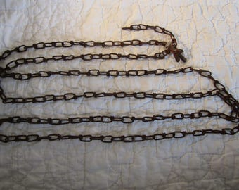 Antique Rusty Chain 80 plus inches long