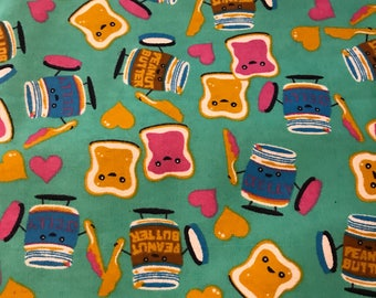 Special listing for Lisa 2 yds of peanut butter play fun fabric