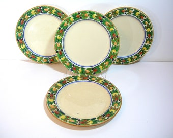 Titan Ware Plates  Fruit Design Dinner Plates, Set of Four