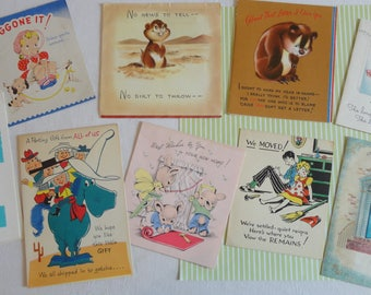Gopher Pop Up Starts Fun in Unusual Reasons for Greeting Cards New Home For Your Trip Write a Letter in Vintage All Occasion Lot No 278