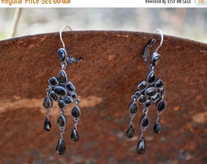 sale Vintage Earrings, Black Earrings, Edwardian Style Earring, Goth Earrings, Steam Punk Earrings, Dangle Earrings, Drop Earrings, Boho Ear