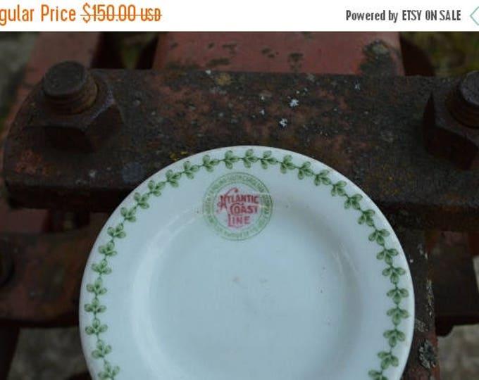 sale Collectible Railway Memorabilia, Atlantic Coast Line, Butter Dish, Circa 1930s, Railway China, Railroad Plate, Railway Dish
