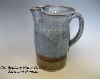 Water Pitcher for Zach and Hannah