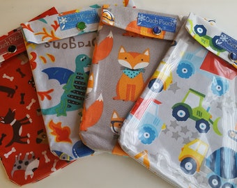 Ouch Pouch 4 Pack Medium 5x7 Clear Front Diaper Bag Purse Backpack Orgainzers First Aid Baby Gift Toddler Boys Supplies Your Choice Fabrics