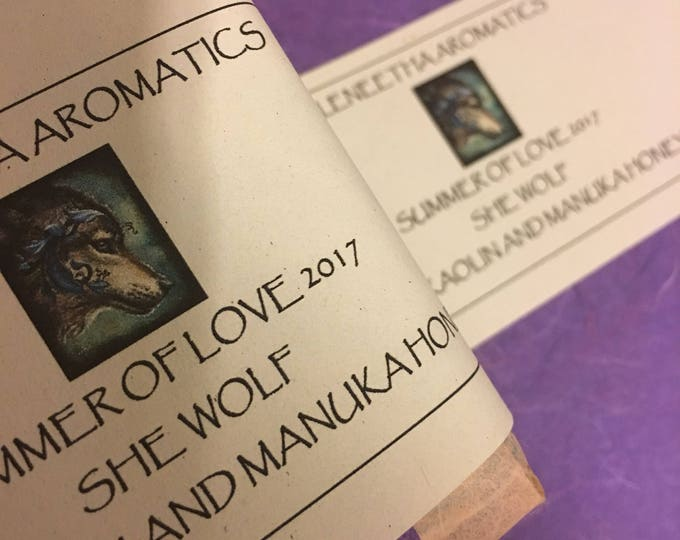 She Wolf frankincense rose geranium vetiver soap kaolin manuka honey love special deal