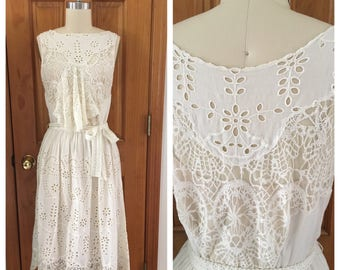 vintage Rideau en Dentelle lace dress / Edwardian inspired lawn dress