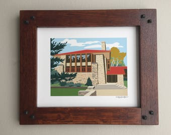Hillside Assembly Hall, Taliesin, Frank Lloyd Wright designed, 8x10 print