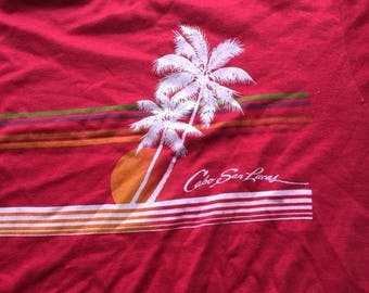 FEB 40% OFF SALE The Vintage 50/50 Maroon Red Cabo San Lucas Mexican Tshirt Tee