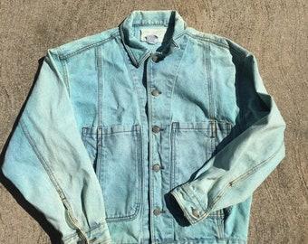 40% OFF The Vintage Fade Blue Jordache Workwear Jean Jacket