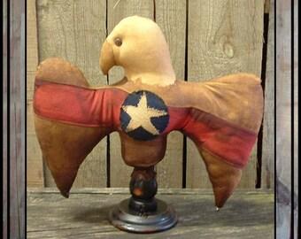 SALE mailed paper pattern Primitive folk art Americana eagle make do HAFAIR OFG faap 396