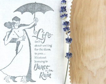 Dance in the Rain Lavender Pillow Sachet, Inspirational Gifts for Women, Life Quote Encouragement Gift for Friends
