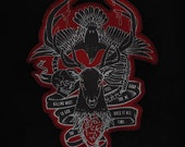 """Hannibal """"killing must feel good to God too"""" embroidered patch"""