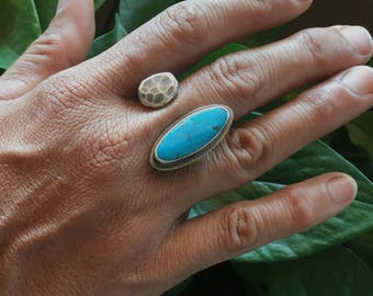 Pebble Ring-Turquoise