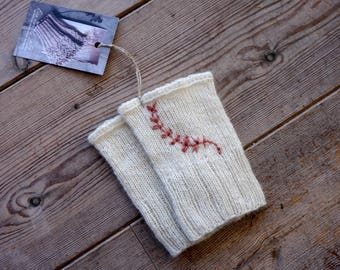 Embroidered 100% cashmere wrist warmers / Hand warmers made of cashmere / With silk and yak / Natural white wrist warmers for weddings