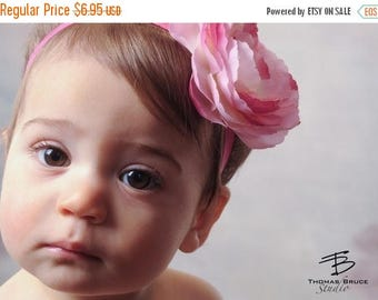 sale Pink Baby Bows Headband Newborn Headband Infant Headband Toddler Headband Girls Headband Newborn Photography Flower Headband Stretch Bo
