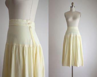airy cotton midi skirt
