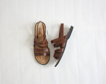 strappy leather sandals size 7