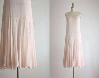 1970s ballet silk dress