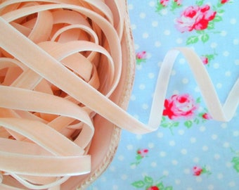 Ballet Pink Velvet Ribbon - 3/8 inch - 3 Yards
