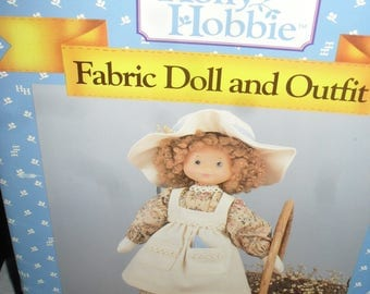 Holly Hobbie - Fabric doll and Outfit - Sewing Pattern  Book - 1991  - Soft cover Book