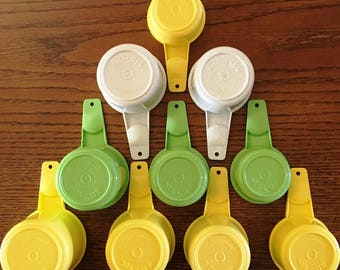 Tupperware Measuring Cups  Varied Sizes and Colors Vintage Replacement Tupperware, Choose Color and Size