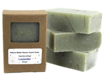 Lavender Soap 5.5 Oz. All Natural Bar Soap, Cold Process, Handmade
