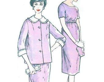 ON SALE Uncut ff Maternity Dress Empire Waistline Early 60s Dress and Jacket Advance 9726 Dress Pattern  Dress Sewing Pattern  Bust 33 inche