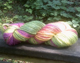 Lantana--4 Ounce Worsted Weight--Wool Mohair blend--Plant Dyed