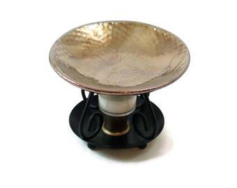 Essential Oil Diffuser in Dragon Skin Raku Handmade Ceramic Pottery
