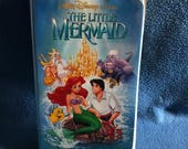 Walt Disney, The Little Mermaid, Original First Press, Black Diamond VHS, Video Cassette Tape with BANNED Cover Art.