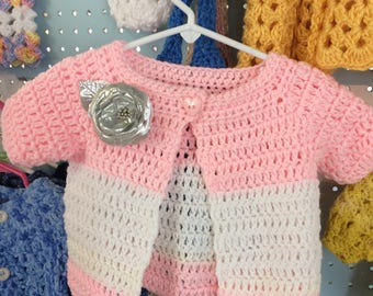 Sweater, Girl, Pink, shown 9 months