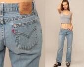 Levis Jeans 515 Boyfriend Jeans Straight Leg Levi Grunge 90s Mom Jeans Denim Pants Baggy Jeans Low Waist 1990s Vintage Small