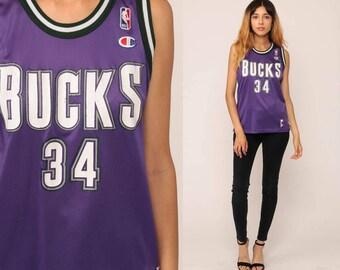 Rayy Allen Jersey Milwaukee Bucks Shirt Basketball Jersey 34 Throwback Nba 90s Champion Retro Sports Number Vintage 1990s Small Medium