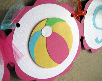 Beach Ball Party Banner - Reserved for SARA BOZLER